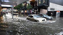 Schwerstes Unwetter seit 1985: Starker Sturm fegt über Brisbane hinweg