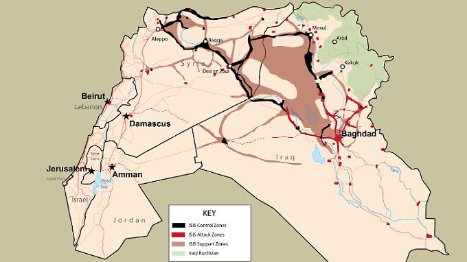 An der Ausdehnung des IS hat sich seit Monaten wenig verändert.