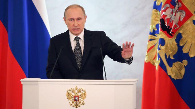 Verteidigung der Ukraine-Politik: Putin hält kämpferische Rede an die Nation