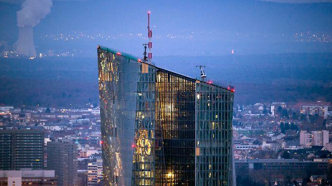 Der neue Sitz der Europäischen Zentralbank in Frankfurt/Main.