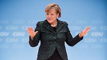 Jubel für Schwarz-Grün: Merkel lobt die FDP - aber sie hilft ihr nicht