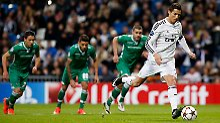 Cristiano Ronaldo erzielte beim Sieg von Real Madrid gegen bulgarischen Meister Ludogorez Razgrad zwei Tore.