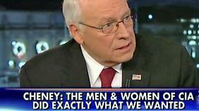 """CIA-Bericht ist """"voller Mist"""": Cheney steht zur Folter während Bush-Ära"""