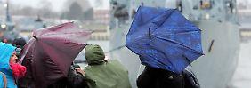 """Mildere Temperaturen und Regen: Sturmtief """"Billie"""" lässt es ordentlich krachen"""