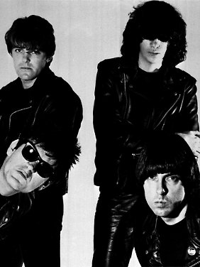 """The Ramones"" 1986: Richie und Joey (o., v.l.) Dee Dee und Johnny Ramone (u., v.l.)."