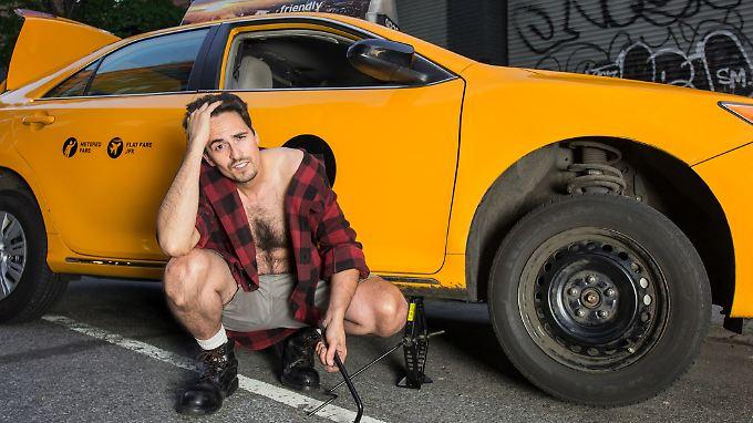 Wenn New Yorks Taxifahrer blankziehen, dann für einen guten Zweck. In Deutschland darf man das auch.