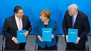 Ein Jahr Große Koalition: SPD legt vor, Union liegt vorne