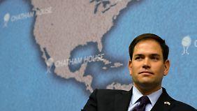 """Der Republikaner Marco Rubio: """"Die Außenpolitik dieses Präsidenten ist nicht nur naiv, sie ignoriert vorsätzlich, wie die Welt funktioniert."""""""