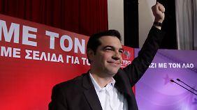 Der griechische Linken-Führer Tsipras verspricht seinen Landsleuten jede Menge Wohltaten.