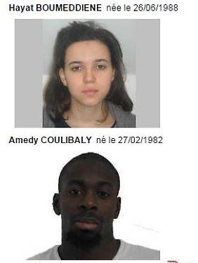 Hayat Boumeddiene (26, oben) und Amediy Coulibaly (32).