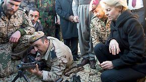 Von der Leyen bei den Peschmerga: Kurden fordern weitere deutsche Waffenlieferungen