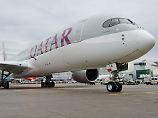 """Provokation im """"Wohnzimmer"""": Qatar Airways führt Lufthansa den A350 vor"""