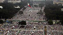 Millionen Gläubige wollen den Papst sehen.