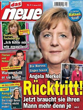"""Das Cover der aktuellen """"Das Neue"""" verkündet Merkels Rücktritt."""