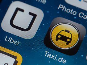 Der Fahrdienstvermittler Uber steht in Konkurrenz zu vielen Taxiunternehmen.