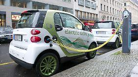 Strom-Zapfsäule in Berlin. 500 gibt es in der Hauptstadt bereits.