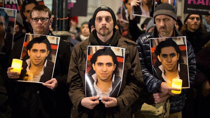 Auf der ganzen Welt, wie hier in London, machten sich Menschenrechtsaktivisten für Badawi stark.