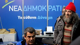 Lange Gesichter bei Anhängern der Nea Dimokratia.