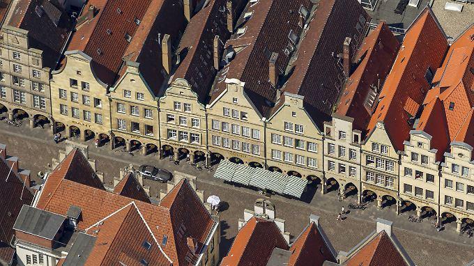 Münster aus der Luft. Gerade in den mittelgroßen Studentenstädten ist nicht klar, ob die Nachfrage stetig steigt.