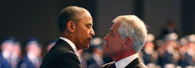 Neuanfang im Pentagon?: Obama verabschiedet Hagel