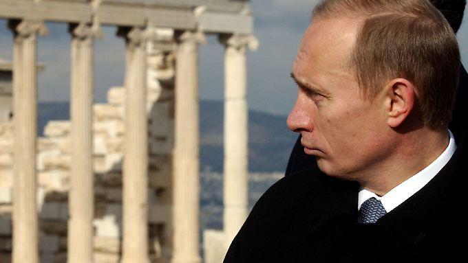 Putin hat 2001 die Akropolis in Athen besucht.