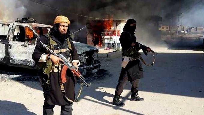IS-Kämpfer in Syrien - ihr Terror verbreitet sich in der ganzen Welt.