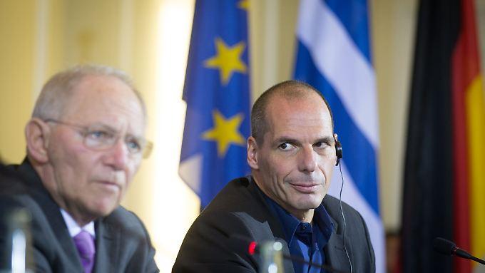 Wolfgang Schäuble (li.) und Yanis Varoufakis: Es ist Zeit für einen Neuanfang.