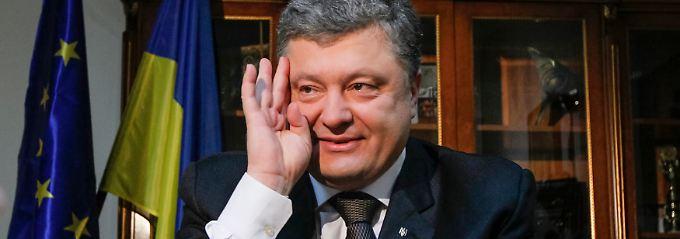 """Verfügt laut """"Forbes"""" über ein Vermögen von 1,3 Milliarden US-Dollar: Ukraine-Präsident Poroschenko."""