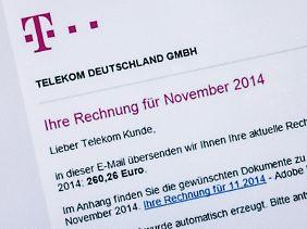 Kein Name? Keine Adresse?Kein blaues @-Zeichen? Ab sofort können Telekom-Kunden leichter erkennen, dass diese Rechnung eine Fälschung ist.
