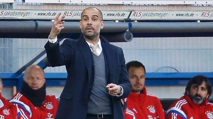 Pep Guardiola und seine Bayern setzen auf die Datenanalyse von SAP.