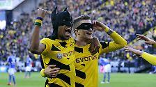 Dann wurden die Pierre-Emerick Aubameyang und Marco Reus zu Batman und Robin, und aus der Nullnummer wurde ein Dortmunder Schützenfest, zumindest für Derby-Verhätlnisse.