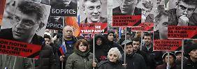 """""""Diese Kugeln galten uns allen"""": 55.000 Russen trauern um ermordeten Nemzow"""