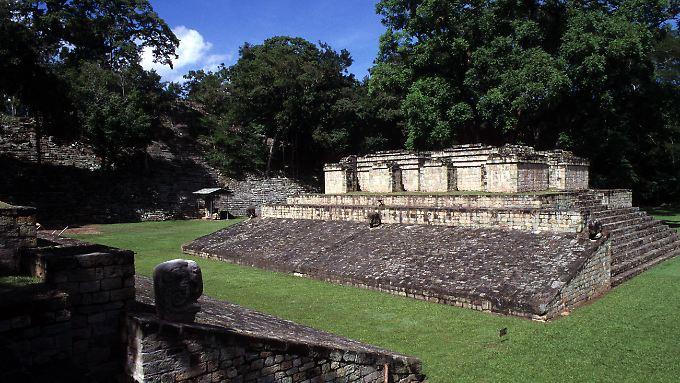 Auch die Mayas, von denen hier eine Tempelanlage in Copan zu sehen ist, waren in der Region heimisch.