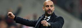 Guardiola in Jubelpose: Es hätte schlechter laufen können für den spanischen Trainer und den FC Bayern.