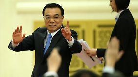 Dem lockerem Auftritt von Li Keqianq folgten strenge Ermahnungen.