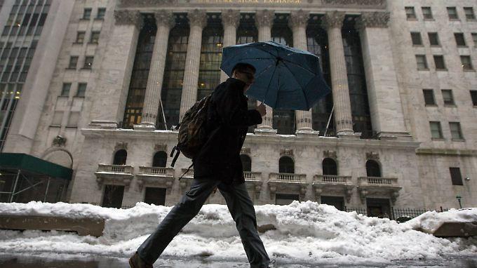 Aktienkauf statt Sparkonto: Welt-Index leidet unter Winter in USA