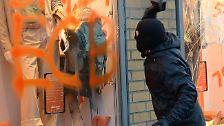 Krawalle zur EZB-Eröffnung: Massive Ausschreitungen in Frankfurt