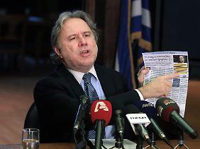 Vize-Innenminister Giorgos Katrougalos. Korrupt oder Opfer einer Kampagne?