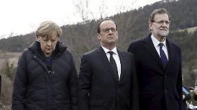 Merkel, Hollande und Rajoy