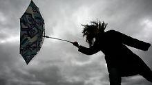 In den kommenden Tagen ist mit heftigen Regenschauern und Sturmböen zu rechnen.