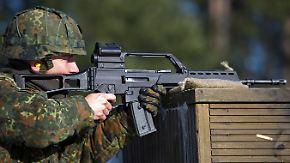 """Grundausstattung der Bundeswehr: Sturmgewehr G36 hat """"ein Präzisionsproblem"""""""