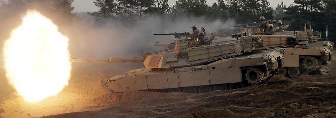 Ein Abrams M1 Panzer im Einsatz.
