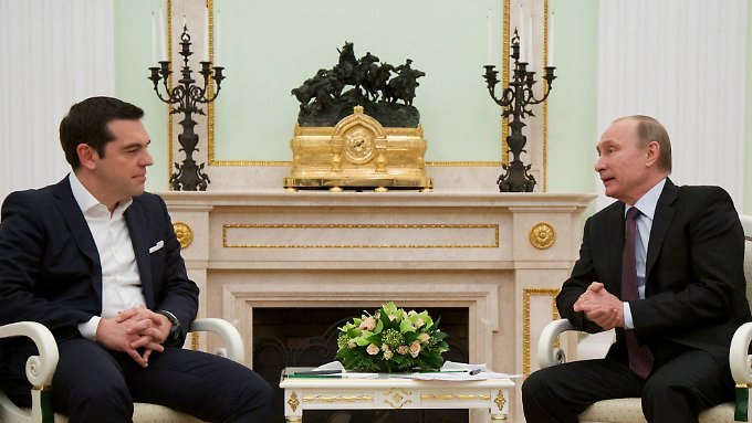 Freundlicher Empfang: Wladimir Putin bietet Alexis Tsipras Ausnahmen von den Handelssanktionen gegen die EU an.