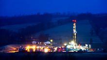 Eine Fracking-Anlage bei Troy in Pennsylvania, USA.