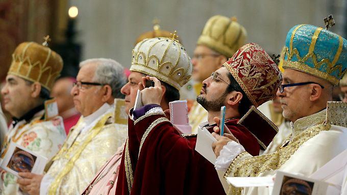 Die Messe im Petersdom wurde nach armenischem Ritus gefeiert.