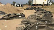 Massaker der IS-Terroristen: 164 Leichen aus Massengräbern geborgen