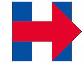 Clintons kindisch-kaltes Wahlkampflogo verrät das Gefühlsdefizit der Kandidatin.
