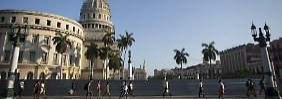 Blick auf das Capitol in Havanna.