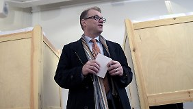 Wird er der neue finnische Premier? Juha Sipilä hat seine Stimme schon abgegeben.