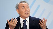 Erwartetes Rekordergebnis: Nasarbajew lässt sich im Amt bestätigen